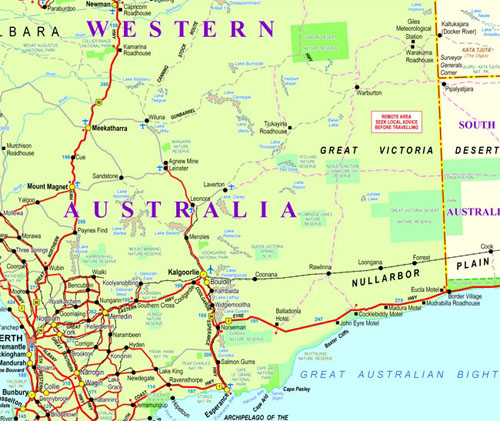 Outback Western Australia Map